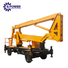 Cherry picker articulated small trailer boom towable lifts for sale
