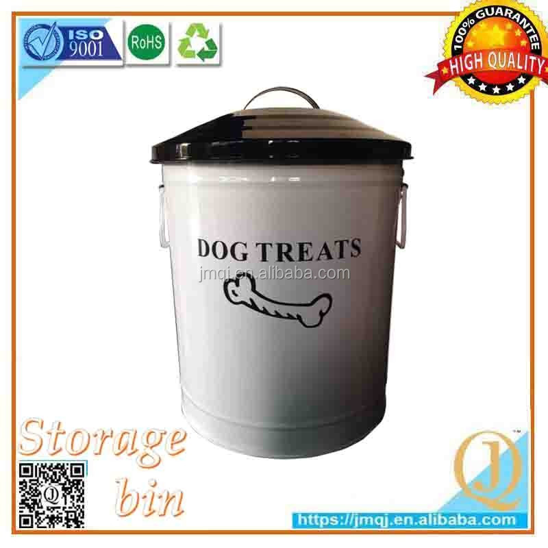 green living personalized metal storage dog food used recycling containers