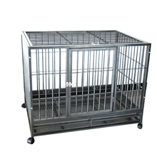 Portable Foldable Iron Multiple Sizes dog kennels with wheels