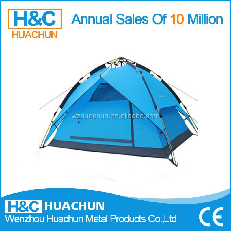 Single Layers and 3 - 4 Person Tent Type outdoor tent,double layer cheap pop up tent