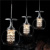 2017 Hot sale modern dining room hanging light fixtures clear glass pendant lamp