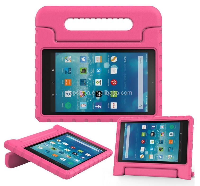 2016 new products for kindle fire hd 8 protective tablet eva shockproof kids cover case with handle