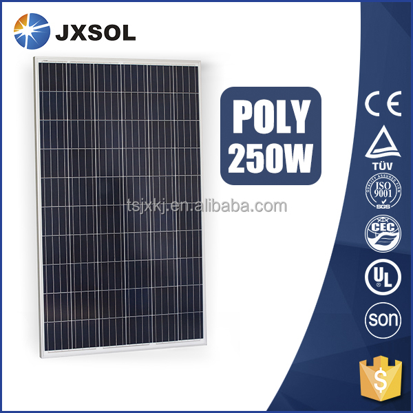 high efficiency cheap price 250w poly solar panel for solar power system home