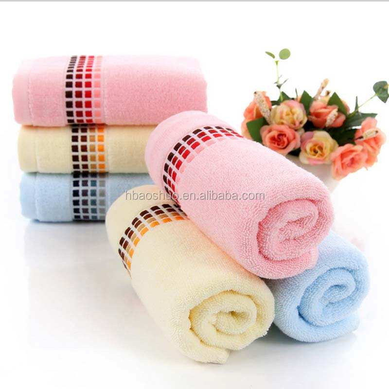 Super quality transitional lattice 100% cotton towel for kitchen from hebei aoshuo