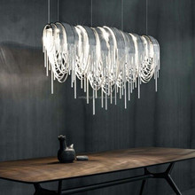China Supplier Modern Decorative Project LED Pendant Lighting Rotation Combines Luxury Aluminum Chain Chandelier Light