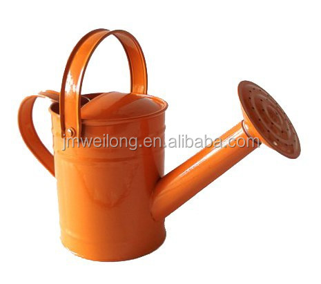 Powder Coat orange small capacity Children Gardening Toys/Liquid Container/Metal Flower Planter/Watering Can