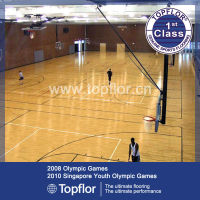 Hot sale pvc wooden basketball laminate flooring in stock