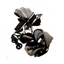 Hot sales EN1888 certificated 3 in 1 Aluminium Alloy Frame Baby Stroller with Car seat cheap supply
