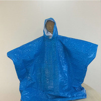 Esschert Design Environmental friendly PE Material colorfast disposable raincoat