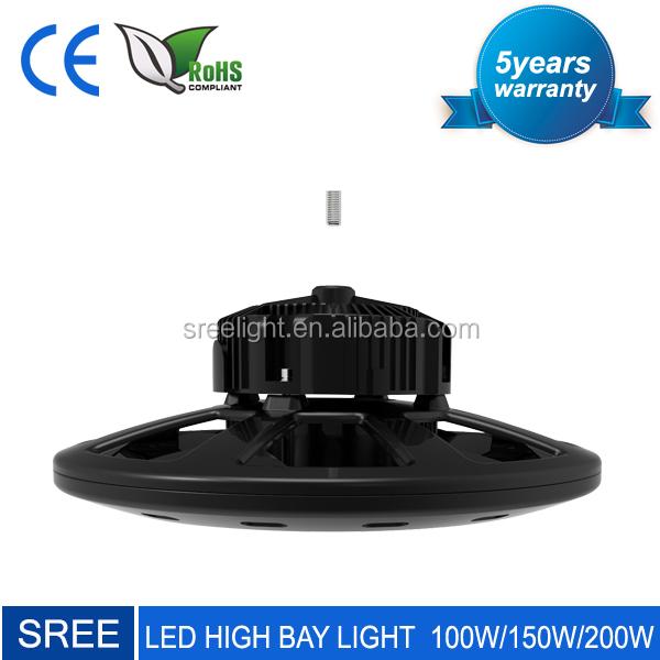 High lumen smd Meanwell Driver 150lm/W 100w 120w 150w 200w warehouse led high bay light
