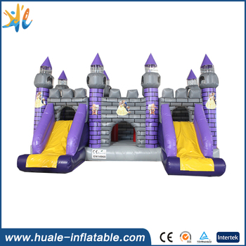 Huale promotion price inflatale entertainning castle slide/mini jumping castle/castle bed for fun