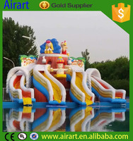 NEW product Inflatable Christmas water slide to kid's holiday party decor