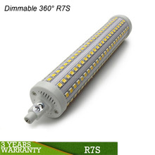 Shenzhen factory price 360 degree 118mm UL CE RoHS dimmable 10w double end r7s