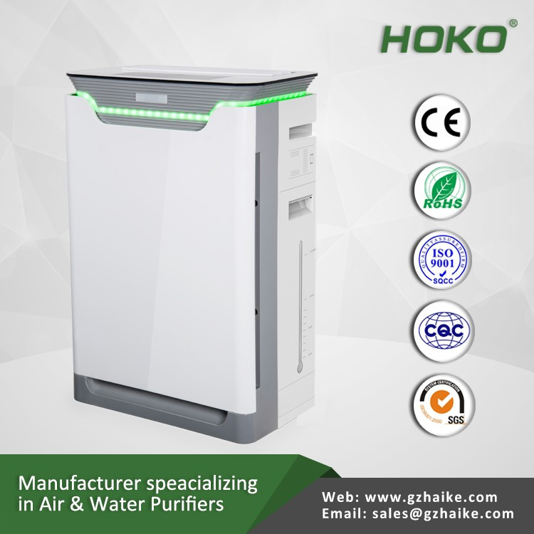 High purification capacity hepa air filter air purifier with humidifier