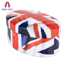 Nice-can special 3D printed food storage oval shaped gift candy metal tin box