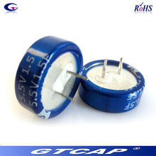 New product 5.5v 0.22f miniature coin type super capacitor