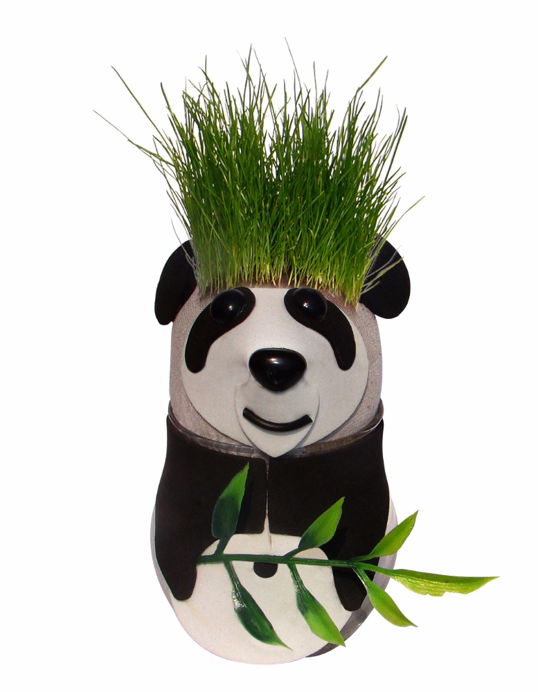 Artificial Panda Bonsai Kit, Bonsai Grass Hair Plants, Desk Small Bonsai Pots China