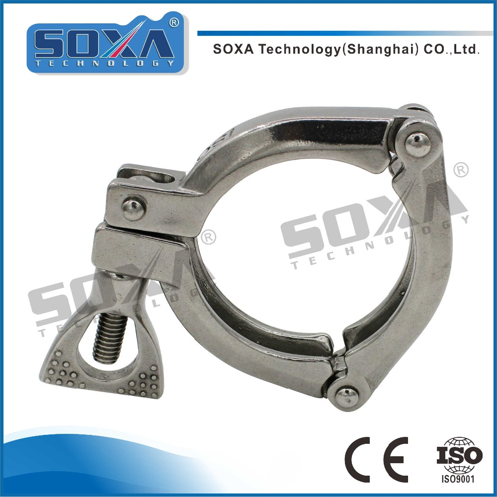 Sanitary Stainless Steel Clamp Three Piece Clamp 13 ISO-3P