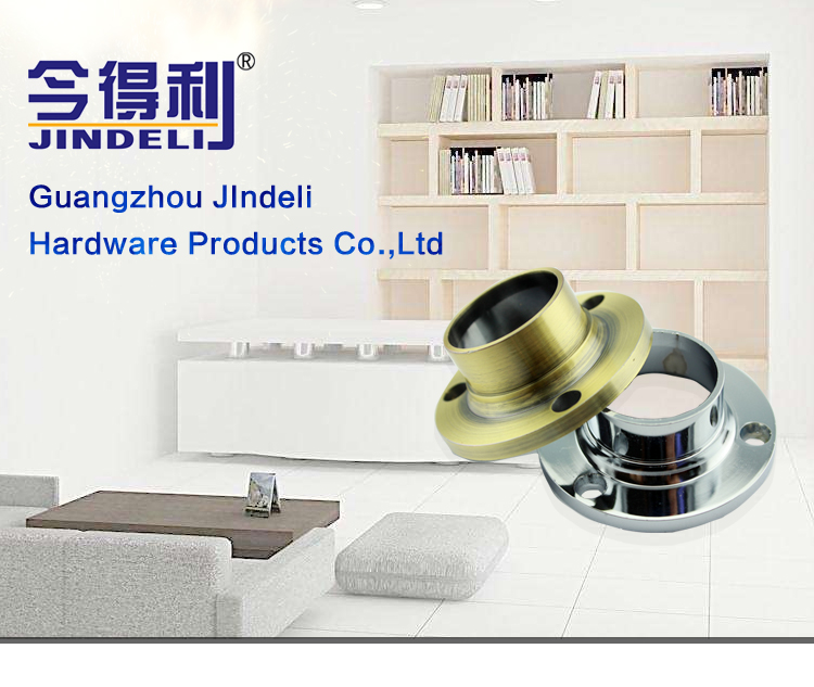 furniture hardware fittings wardrobe clothes hanging rod flange, weld neck aluminium stainless steel flange