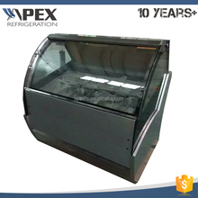 Apex brand -18~-22C temperature range ice cream showcase gelato display freezer with 12 pans