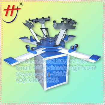 Manual screen printing machine 8 color t shirt silk screen for Screen printing machine for t shirts for sale