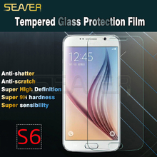 for S6 anti-scratch anti-fingerprint tempered glass screen protector/film/guard/cover/foils