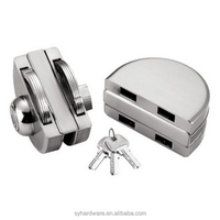 Strong function semicircle double size Zinc alloy Lock for frameless glass door