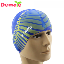 Low MOQ Adult custom printed logo silicone swim cap for water sport