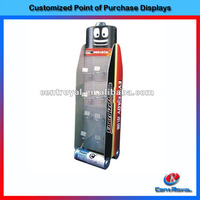 Hot selling metal pegboard battery display rack for supermarket