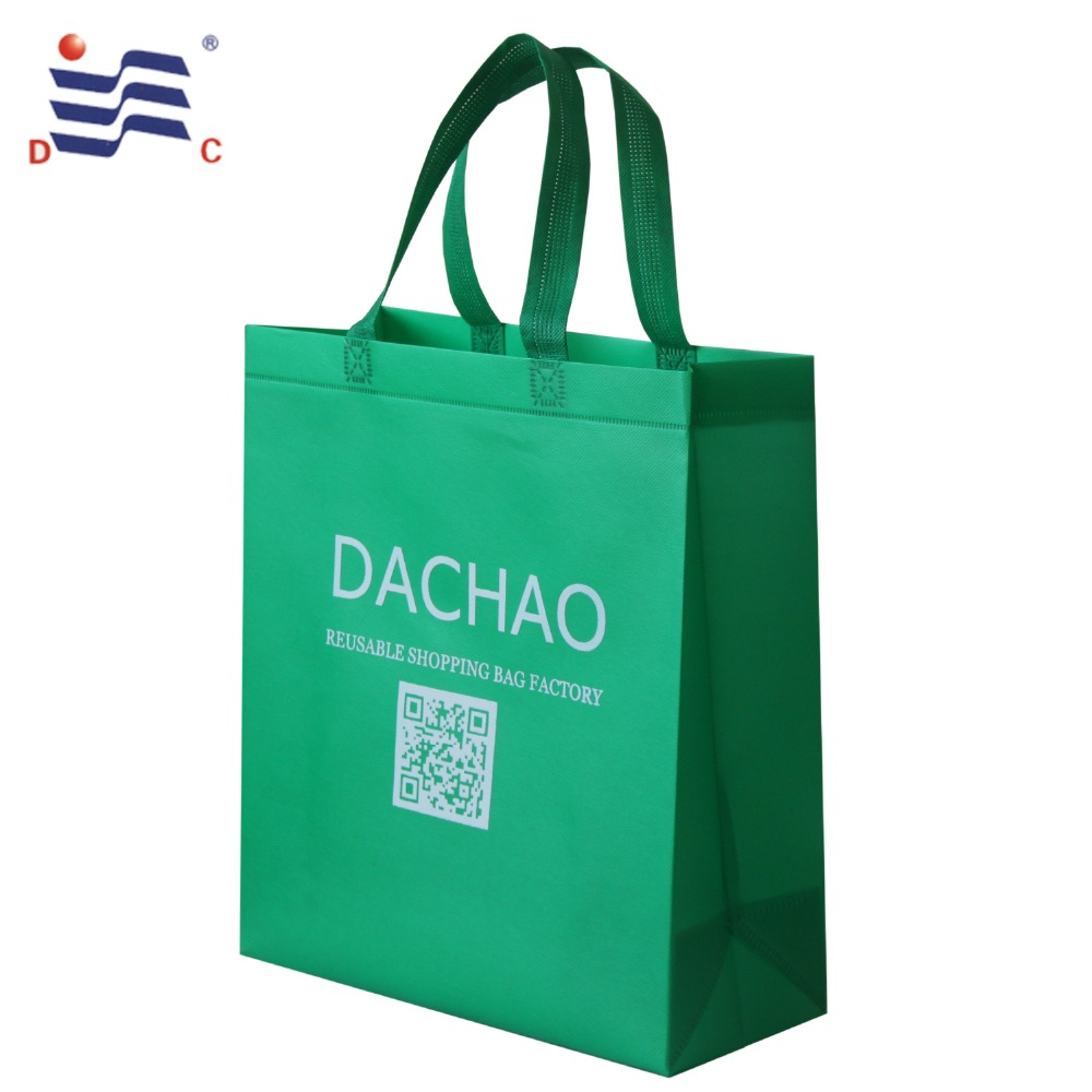 Green recycle pp non woven bag with custom logo
