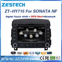 Double Din DVD Player For Hyundai Sonata 2007 With GPS Bluetooth USB SD Card Rear-view Camera