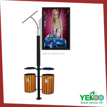 2016 Outdoor Solar Powered Light Box Street Pole Signs