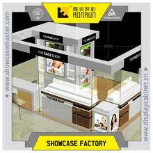 Korea famous brand cosmetic display counter and wall cabinet design for department store