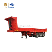 CHTC tri--axle hydraulic dump semi trailer tipping trailer for sale