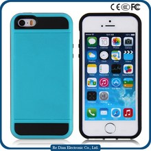 Shockproof Hard PC +Soft TPU Mobile Phone Case Cover for iPhone5