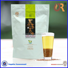Heat seal custom printed plastic empty green coffee tea bags for sale/stand up zipper tea bags