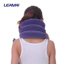 Durable inflatable neck support collar belt traction apparatus