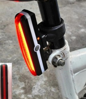 Bicycle rear seatpost USB Rechargeable red LED lights