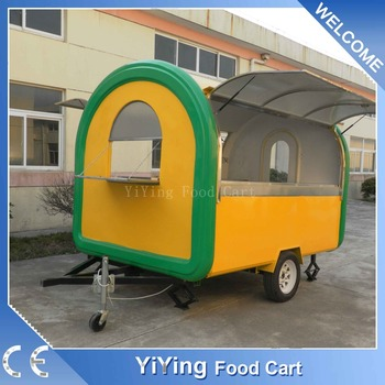 China supplier insulated custom bbq food trailer for sale