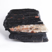 Black Tourmaline Crystal Rough Stone