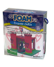 Kids Foam Art and Craft Kits 3D Foam Princess Castle kit