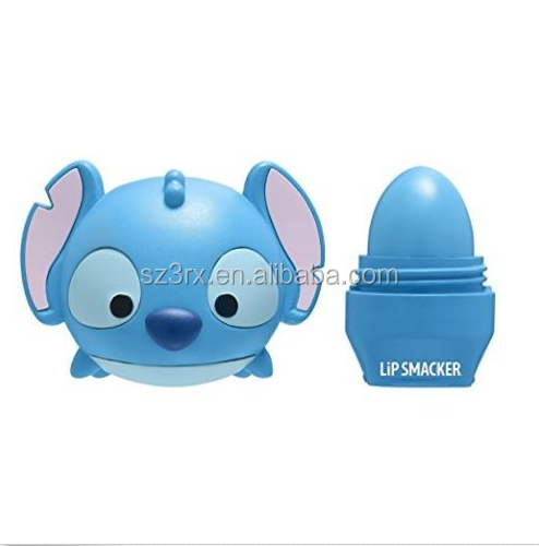 Novelty Big Ear Blue Animal Empty Plasitc Lip Gloss Container/Custom Plastic lip balm case/OEM Cartoon Tube Lip Balm Container