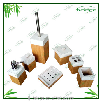 new design bamboo bathroom accessories sets