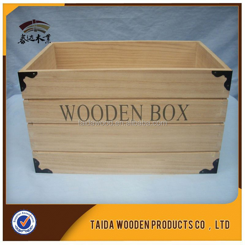 China Saupplier Slatted Wood Crates Box