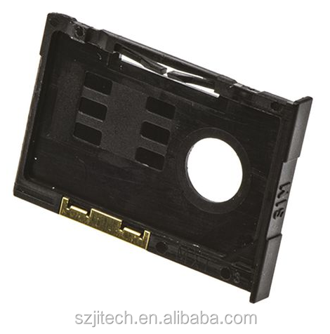 2.54mm pitch SIM Card Holder with Ejector 91236-0001 molex 6 pin memory card socket 91236 series Vertical Fascia