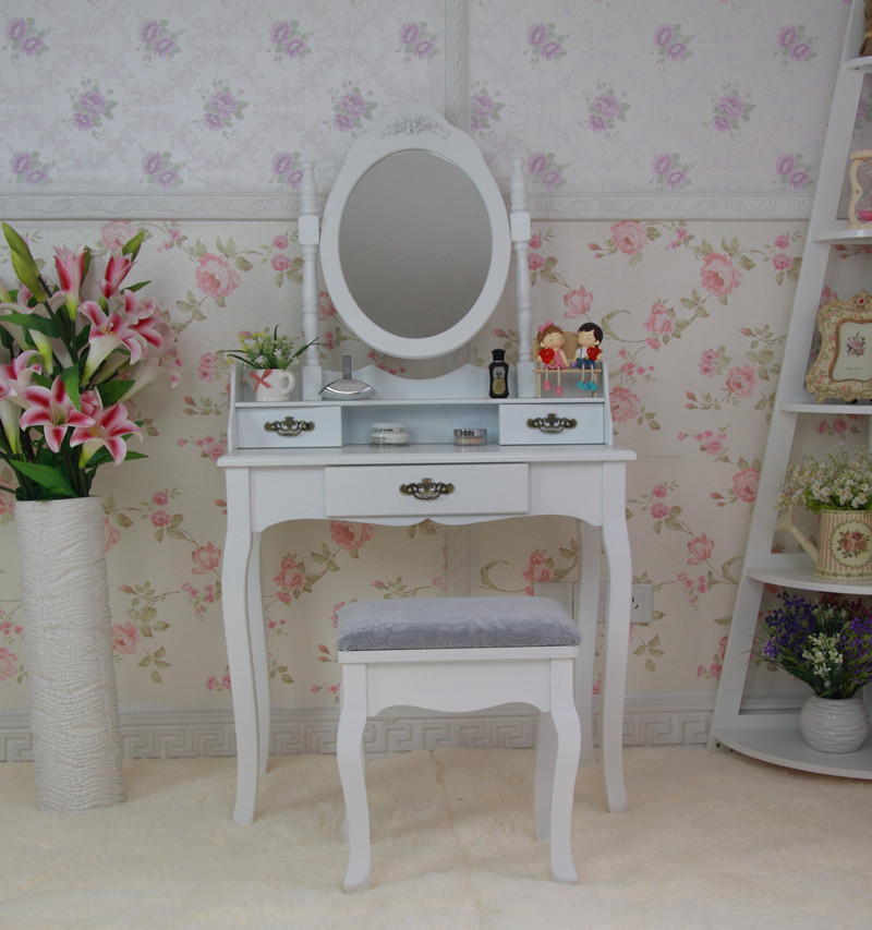 Sylvia simple dressing table designs with metal drawer handle