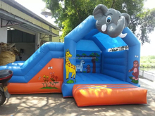 best christmas selling inflatable elephant bouncer with slide combo for sale