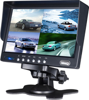 4 Split Color Display 7 Inch Quad Screen Car Monitor