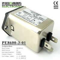4A Power Entry Modules General purpose Low Pass Mains Switch PE8600 EMI Filter