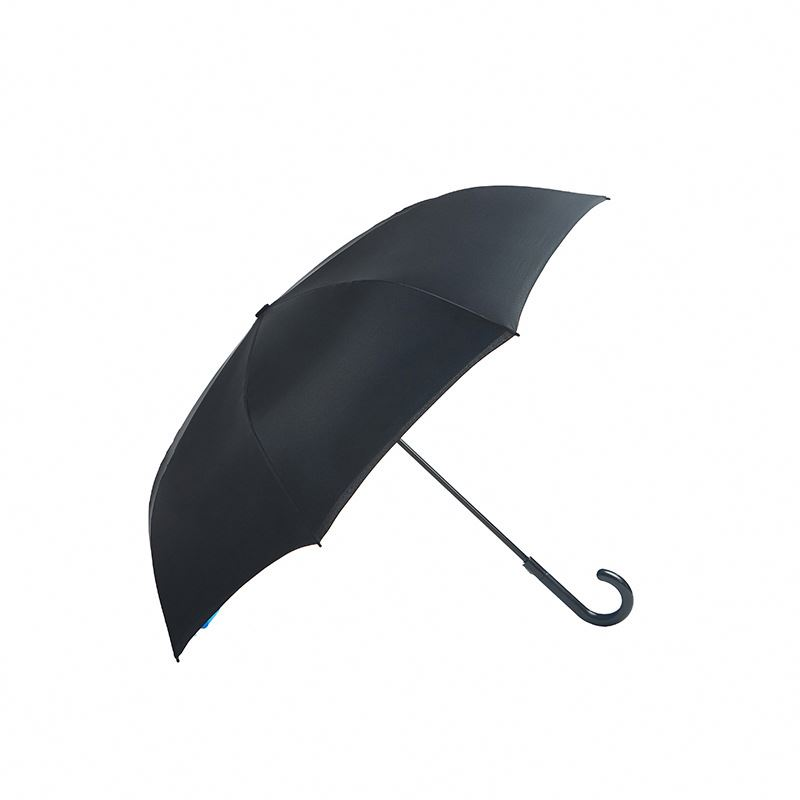 "J1005 23"" 170T Polyester Black Wholesale Cheap golf Umbrellas with custom logo"